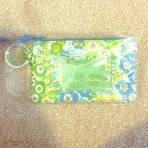 Vera Bradley english meadow zip ID case NEW